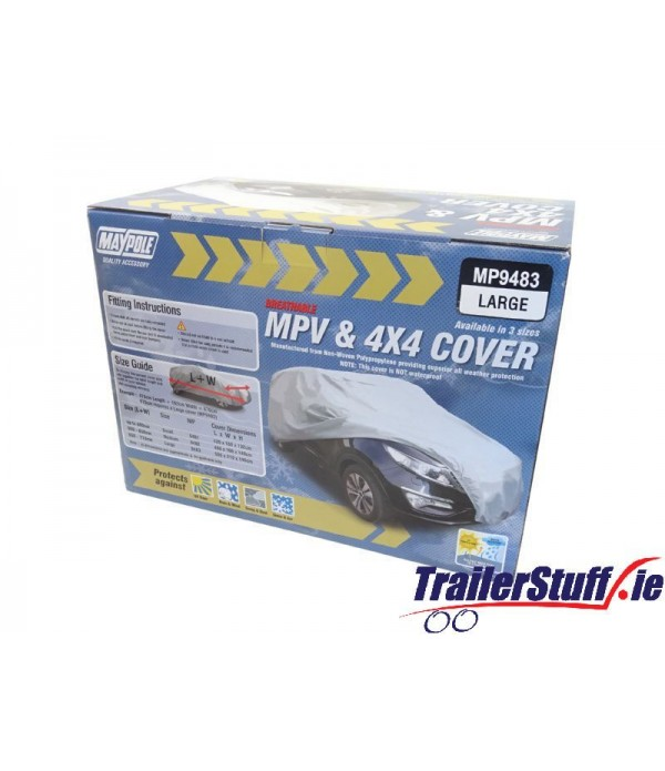 LARGE BREATHABLE WATER RESISTANT MPV / 4X4 CAR COV...