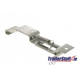 Number plate clip, oblong plate pair