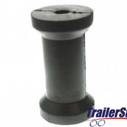 """5"""" keel roller with 16mm. dia. bore"""