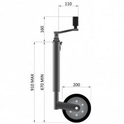 48mm Smooth Jockey Wheel 400KG