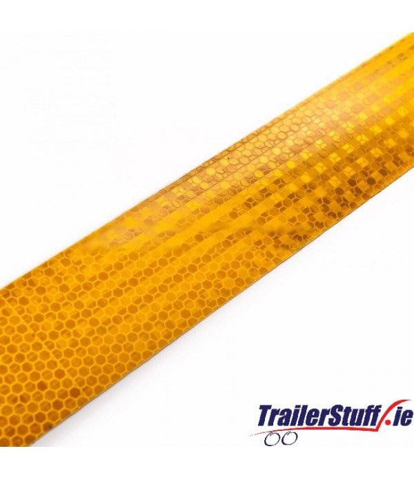 3M Yellow reflective tape, per meter