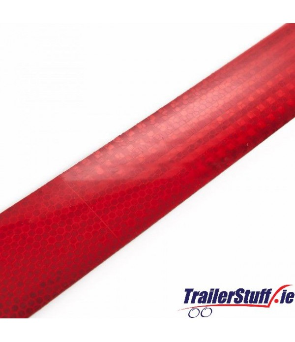 3M Red reflective tape, per meter