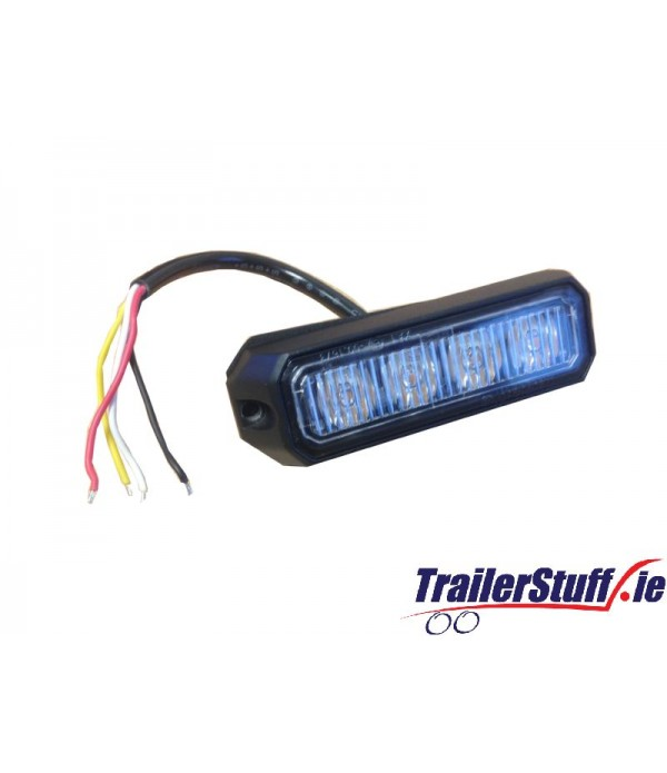 12/24V 12W AMBER LED STROBE R65/R10/IP65