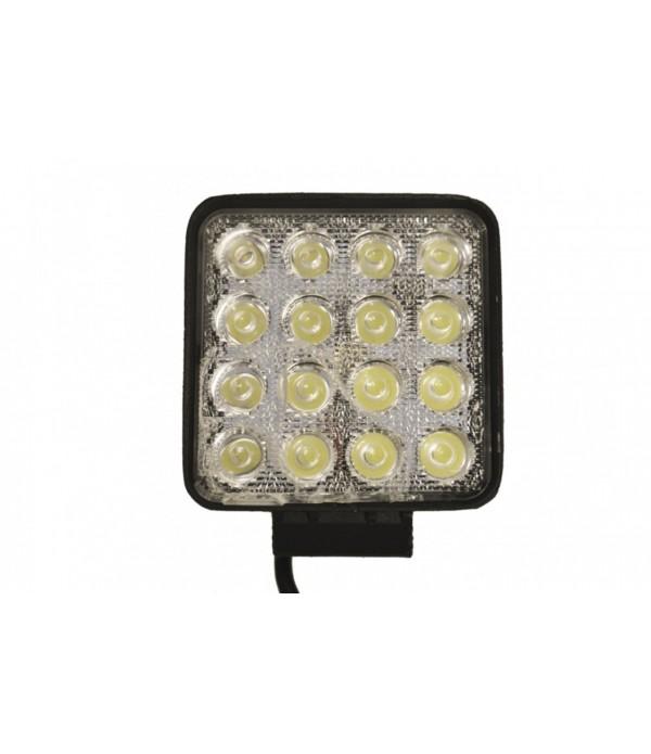 10-30V 48W LED WORKLAMP - 16x3W 3800lm FLOOD IP67