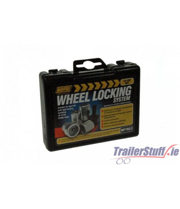 "3/8"" wheel nut lock set"