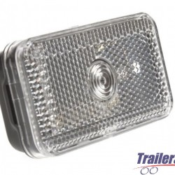 CLEAR FRONT MARKER LIGHT & REFLECTOR