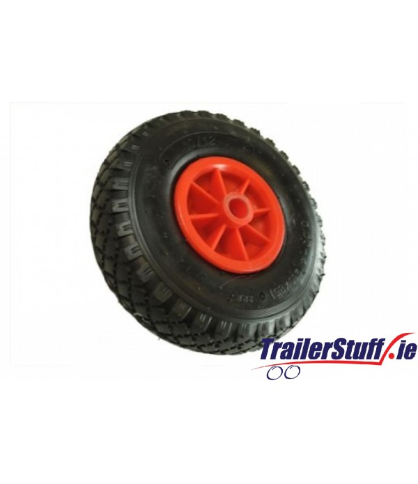 225MM PNEUMATIC RUBBER / PLASTIC WHEEL