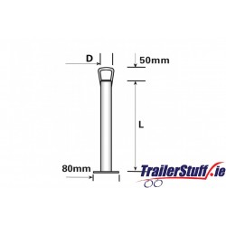 600 X 42MM PROPSTAND WITH HANDLE