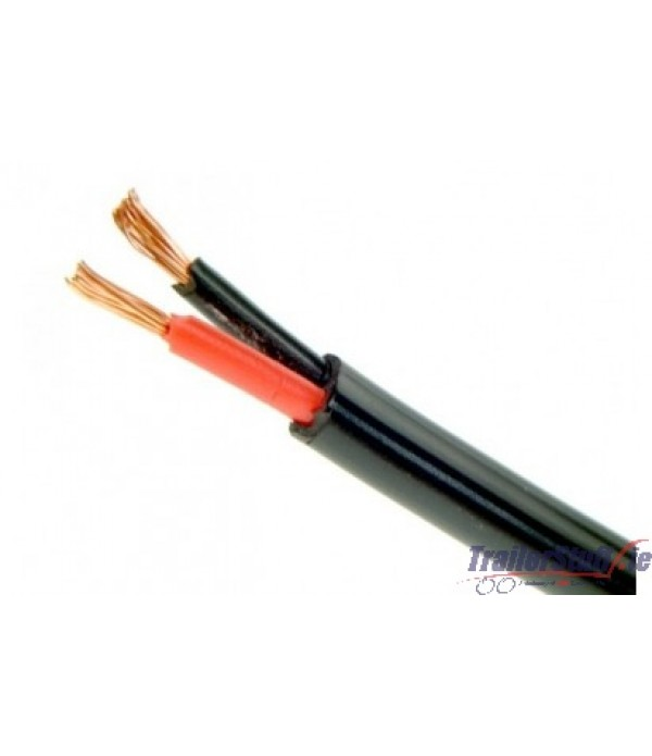 FLAT CABLE 2 CORE TWIN 2 X 2.0MM² 17AMP per Meter