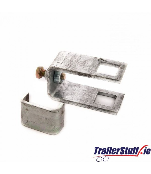 Square tube clamp 50x40 chassis section