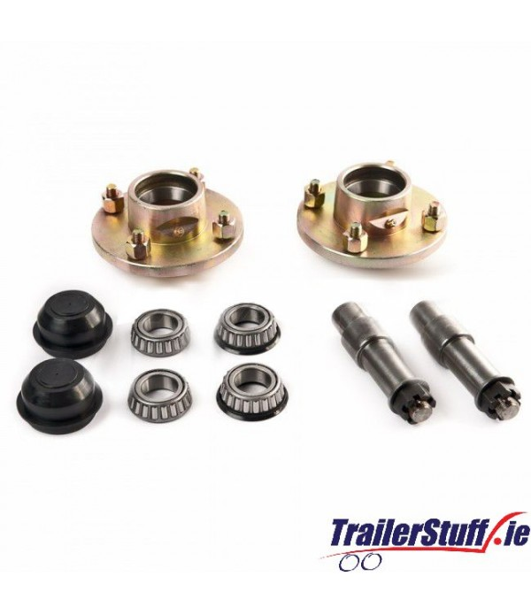 "Stub axle kit with 1"" taper hubs"