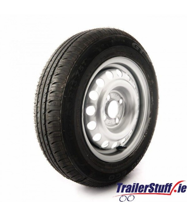 165/80 R13, 4 on 100mm. PCD wheel assembly