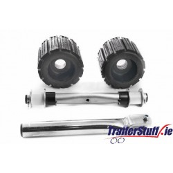 Ribbed roller set with straight shaft and stem