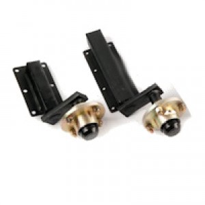 Unbraked suspension units with cast hubs