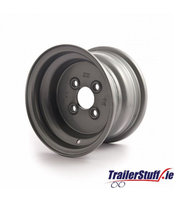 10 inch rim, 6J, 4 on 100mm. PCD for 20.5x8-10 tyr...