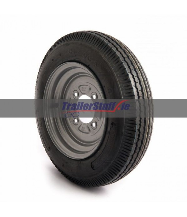 4.00-10, 4 ply, 4 on 115mm. PCD wheel