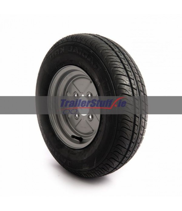 "145/80 R10, 4 ply, 4 on 4"" PCD wheel assembly"
