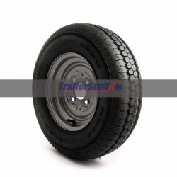 145/80 R10 4 ply, 4 on 100mm. PCD wheel assembly