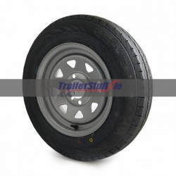 """145 R12 C, 8 ply, 4 on 4"""" PCD wheel assembly"""