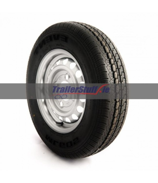 145/80 R13, 4 on 130mm. PCD wheel assembly