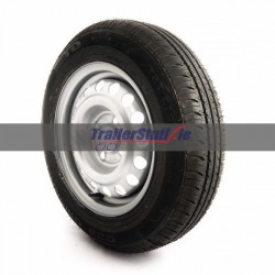 175 R13 C, 8 ply, 4 on 100mm. PCD wheel assembly