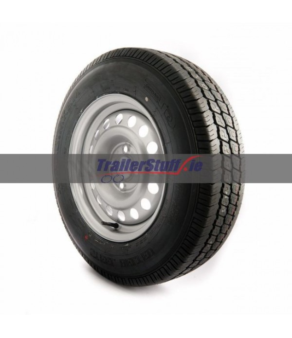 195/70 R14 C, 4 on 100mm. PCD wheel assembly