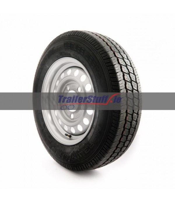 175 R14 C, 8 ply, 5 on 140mm. PCD wheel assembly