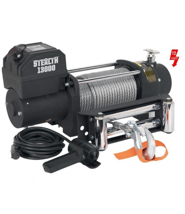 STEALTH 13,000LB (5897kg) 12v ELECTRIC WINCH WITH ...