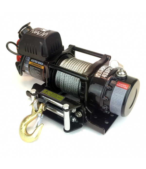 Warrior 4500 12V Electric Winch with Steel Rope 4,...