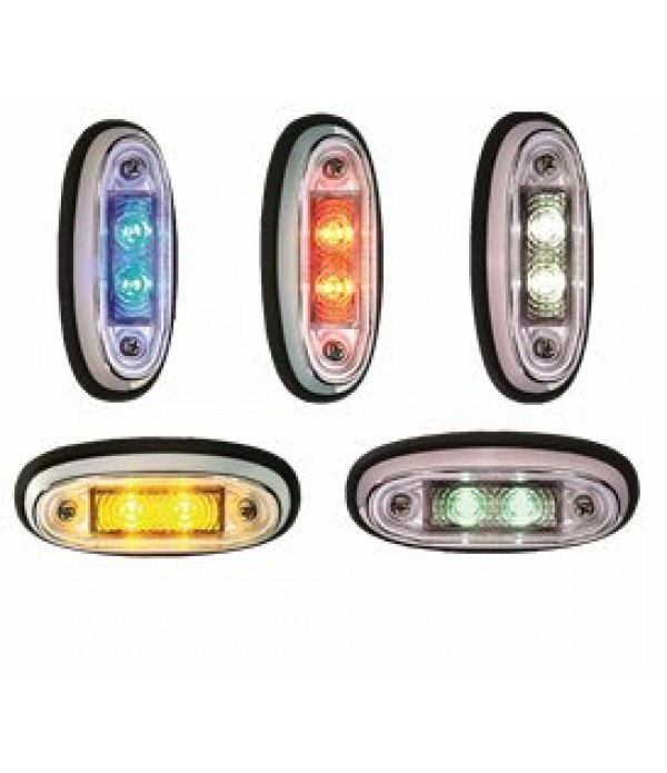 Chrome Surface Mounted Led Marker Lamps
