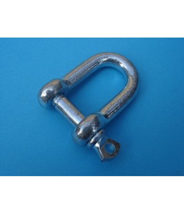D-Shackle, 10mm. dia.