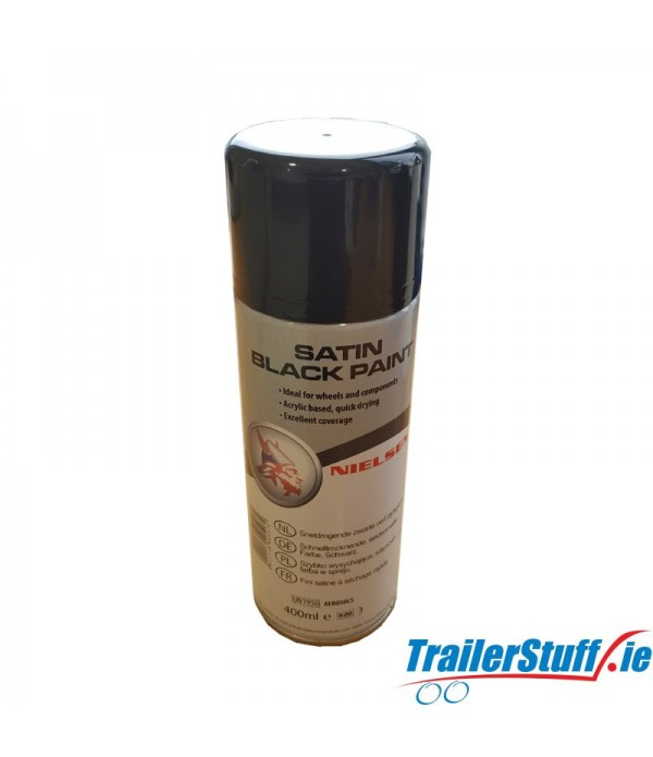 Nielsen Satin Black Spray Paint 400ml