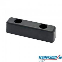 Rubber buffer 150x50x50mm.