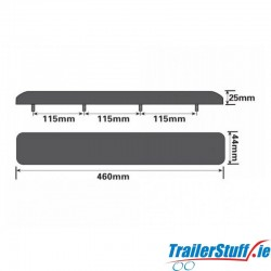 "18"" Flat Rubber Pad"