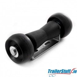"""Combination roller assembly, small, 5"""" v-roller"""