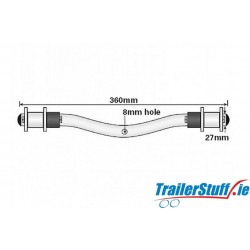 Bracket for Ribbed Wobble Rollers