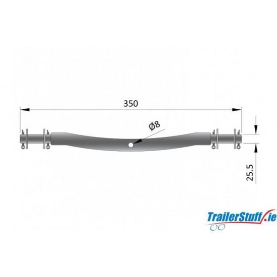 25.5mm Ribbed Roller Bracket