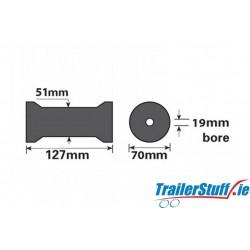 "5"" Keel Boat Roller 127x19mm"