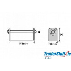 """Keel Roller Bracket 5"""" (127mm) 16mm Centre Bore"""