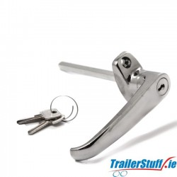 Van door lock, L-handle