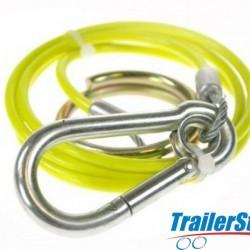 BREAKAWAY CABLE PVC YELLOW 1M x 3MM