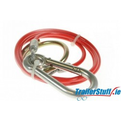 Breakaway Cable PVC Red 1m x 3mm