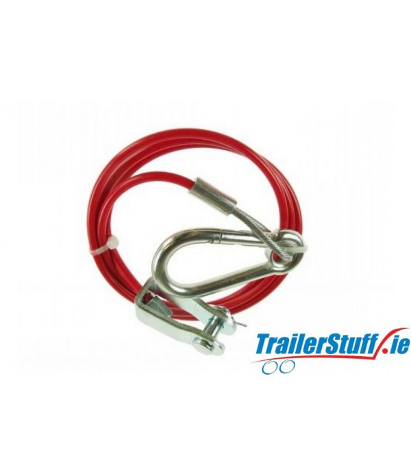 BREAKAWAY CABLE PVC RED 1M x 3MM (CLEVIS)