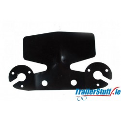 Bumper protector, black with socket holders