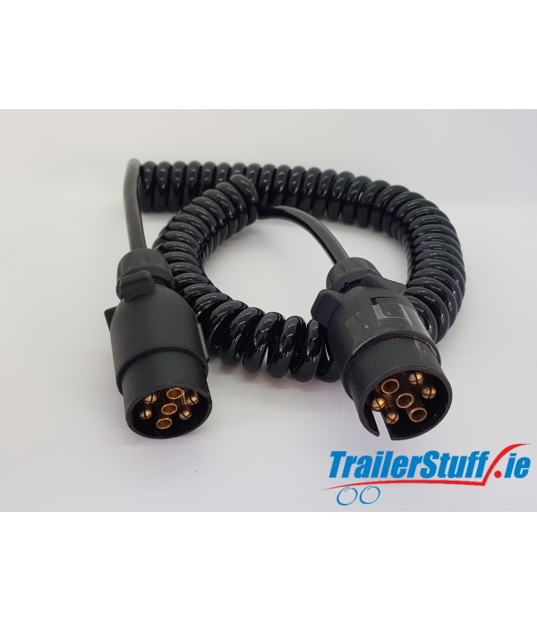 CONNECTING LEAD CURLY 1.5M 12N 2X7PIN PLUGS