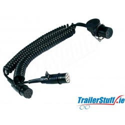 3.5M SPIRAL CONNECTING LEAD 15P SOCKET TO 2 x 24N/S PLUGS 24V