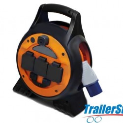 15M Mains Power Extension Reel with LED Light