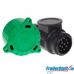 13 Pin 12V Plastic Plug with Green Alignment Cap