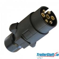 7-pin plug with spade connectors