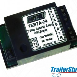 7 Way Bypass Relay for 24v to 12v Applications